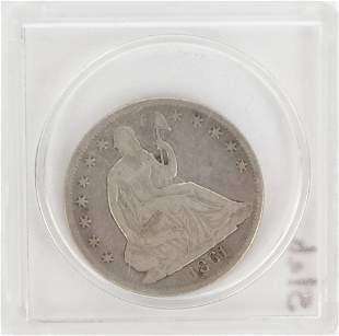1861-O SEATED HALF DOLLAR COIN