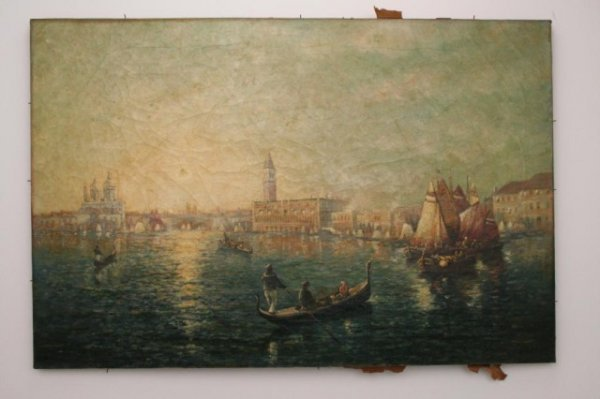 PAINTING OF VENICE BY GF KAUMEYER 1906