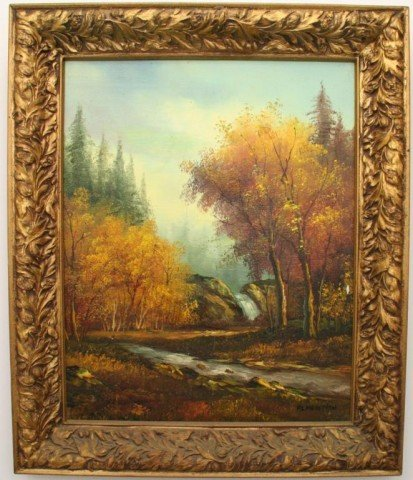 PAINTING OIL ON CANVAS LANDSCAPE BY AL NEWMAN