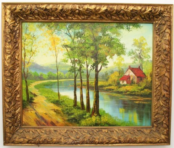 20TH CENTURY PAINTING OIL ON CANVAS - SIGNED
