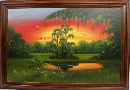 ALBERT BLACK FLORIDA HIGHWAYMEN SUNSET RIVER
