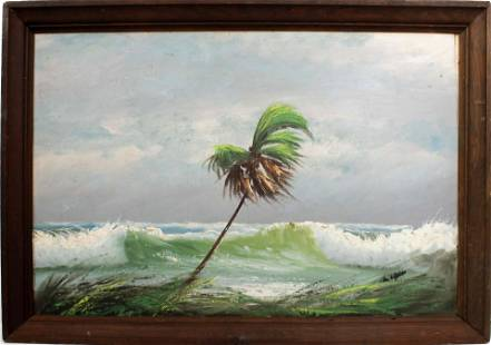 ALFRED HAIR FLORIDA HIGHWAYMEN STORMY SEA UNSIGNED