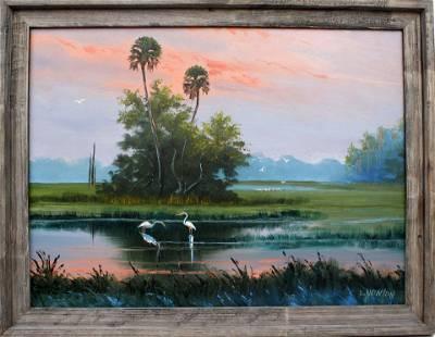 LEMUEL NEWTON FLORIDA HIGHWAYMEN PINK SUNSET