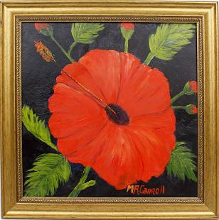 MARY ANN CARROLL FLORIDA HIGHWAYMEN RED HIBISCUS