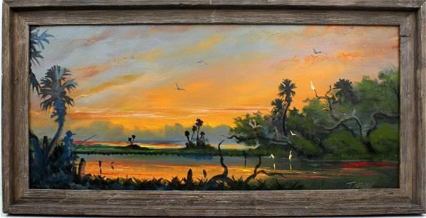 TRACY NEWTON FLORIDA HIGHWAYMEN STYLE PAINTING