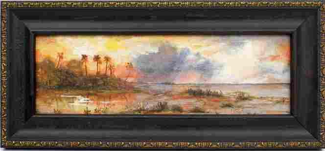 M.J. GANDEE FLORIDA ARTIST LANDSCAPE PAINTING