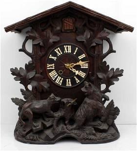 BLACK FOREST GERMAN MANTLE CUCKOO CLOCK