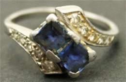 LADIES PLATINUM  DIAMOND ESTATE RING