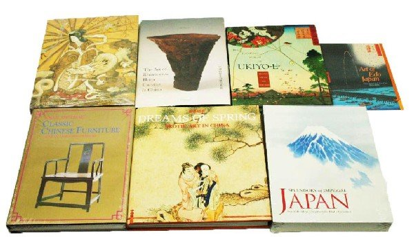 JAPANESE & CHINESE ART BOOK LOT OF 7
