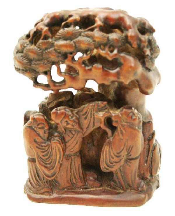 JAPANESE CARVED WOOD OKIMONO