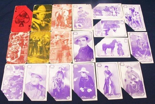 LOT 19 VINTAGE TOM MIX CARDS & POSTCARDS