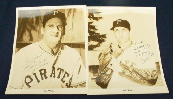 TWO PIRATES PHOTOS SIGNED TO WILKS BY WALSH & WERLE