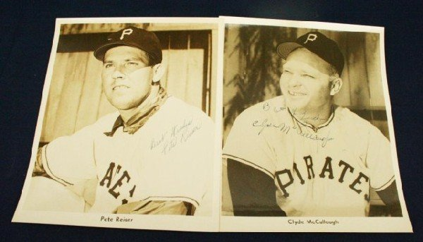 PIRATES PHOTOS SIGNED TO WILKS BY McCULLOUGH & REISER
