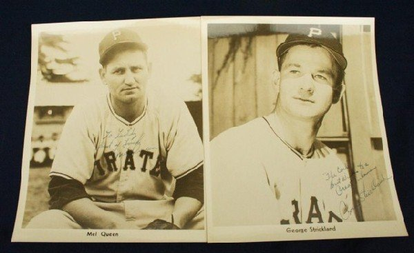PIRATES PHOTOS SIGNED TO WILKS BY STRICKLAND & QUEEN