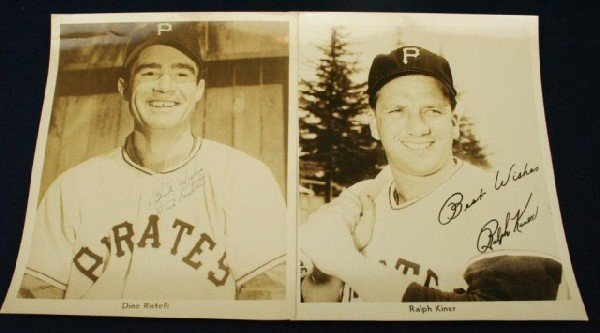 PIRATES PHOTOS SIGNED TO WILKS BY RISTELLI & KINER