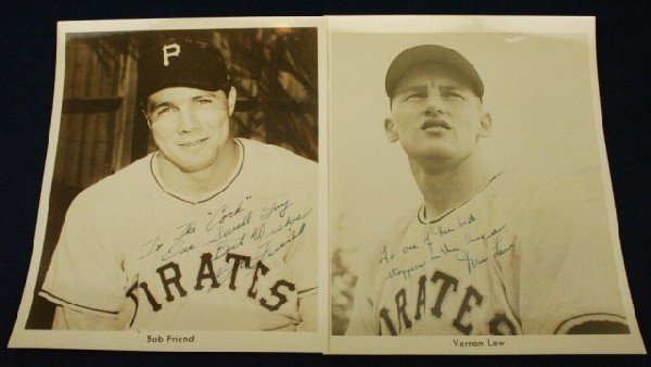 PIRATES PHOTOS SIGNED TO WILKS BY FRIEND & LAW