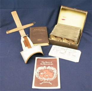 MASSIVE LOT OF STEREOVIEW CARDS VIEWER AND MAPS