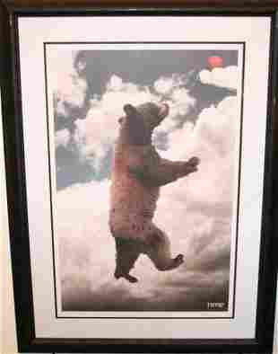 FRAMED PRINT PRESENTED TO COLUMBA BUSH BY TIITE