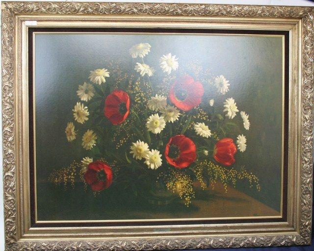 "LARGE VINTAGE PRINT ""GIFT OF FLOWERS"" by HOFFMAN"