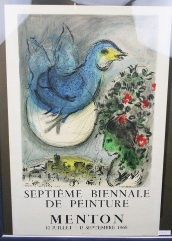 MARC CHAGALL - POSTER LITHOGRAPH SEPTEMBER 1968