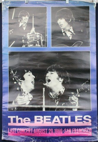 POSTER - THE BEATLES 1966 SAN FRANCISCO