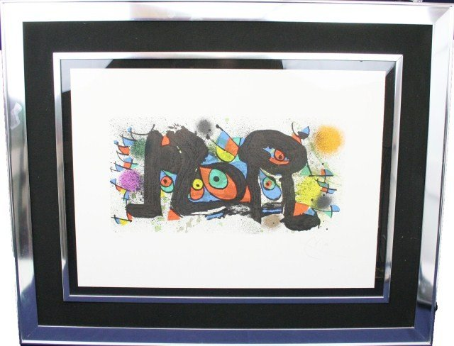 "JOAN MIRO - SIGNED LITHOGRAPH ""SCULPTURE II"""