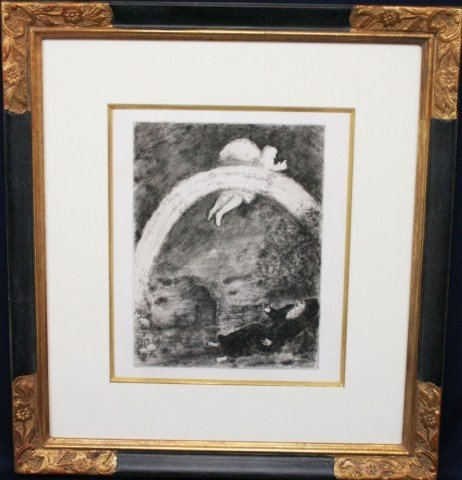 MARC CHAGALL - VISION OF ABRAHAM UNSIGNED PRINT