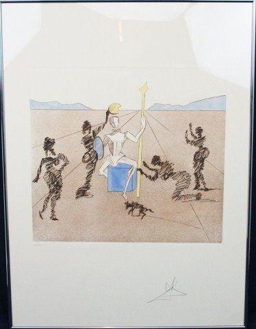 SALVADOR DALI - SIGNED GOLDEN HELMET OF MAMBRINO