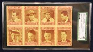 1929 STAR PICTURES STAMP POST CARD SGC GRADED VG40