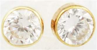 PAIR .5 CT LADIES DIAMOND STUD EARRINGS