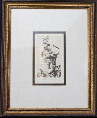 CHARLES BRAGG - ETCHING IVORY TOWER