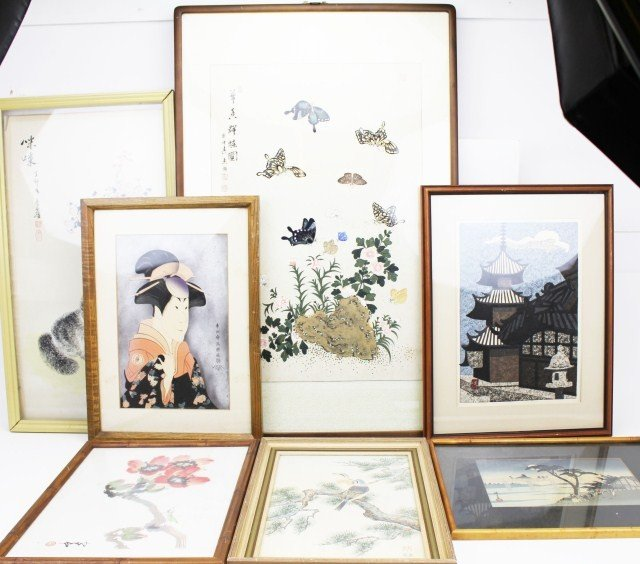 JAPANESE SILK SCREEN PICTURES & WOODBLOCK PRINTS