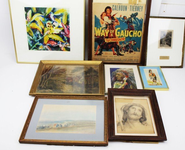 MIXED LOT OF FRAMED PRINTS & LITHOGRAPHS