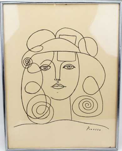 Line Drawing By Pablo Picasso : Pablo picasso lithograph line drawing