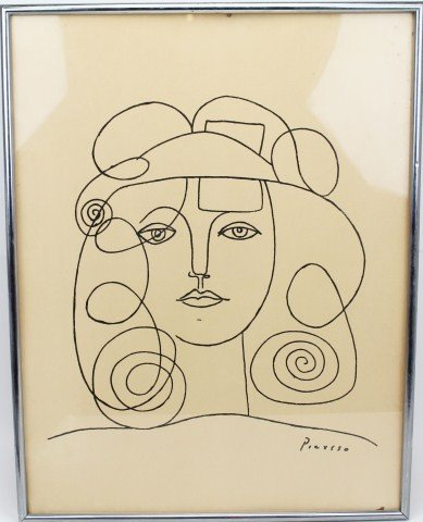 PABLO PICASSO - LITHOGRAPH LINE DRAWING