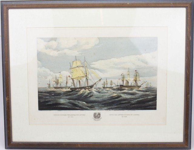 OW BRIERLY NAVAL LITHOGRAPH BY DUTTON