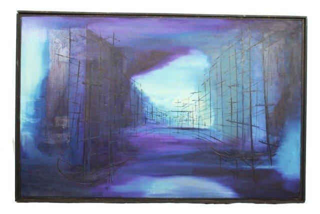W J OSHBORNE - CONTEMPORARY ART OIL ON CANVAS