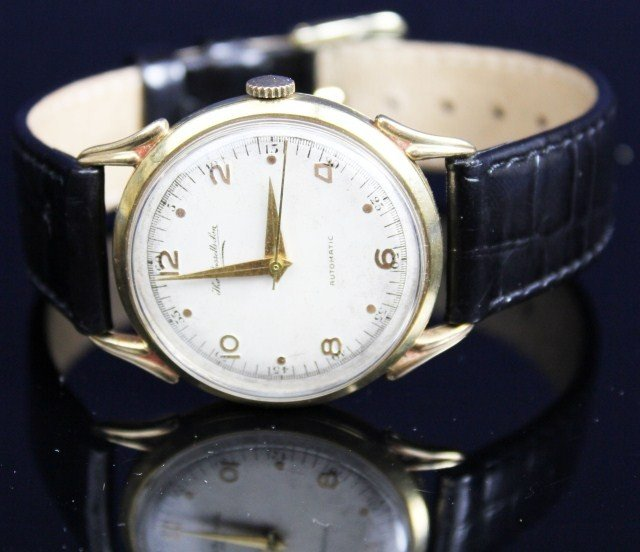 MENS THOMAS RUSSELL 9K GOLD CASE WRIST WATCH