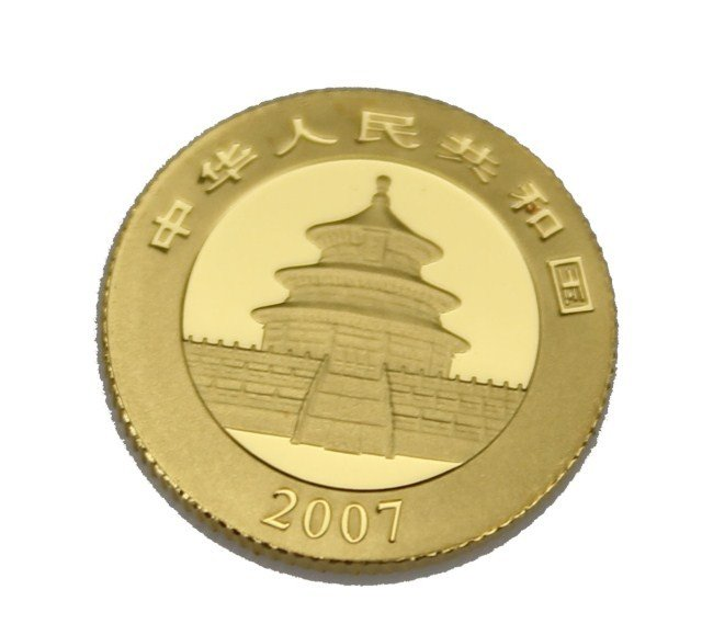 2007 CHINESE GOLD PANDA COIN .999