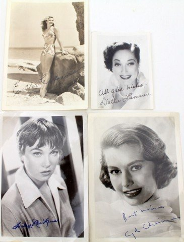 FOUR SIGNED PHOTOS FROM THE 50s AND 60s