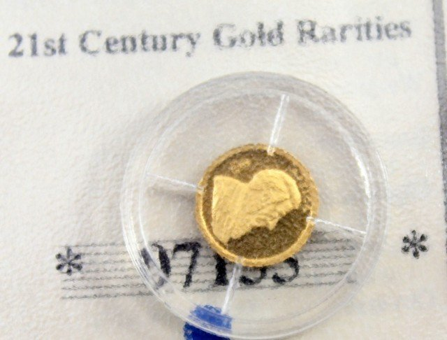LOT 3 AMERICAN MINT 14K GOLD COIN MINI REPLICAS - 2