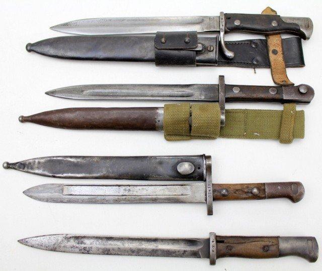 LOT OF 4 MAUSER BAYONETS WW1-WW2 - 5