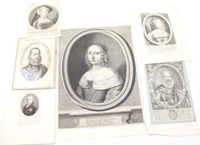 ROYAL ENGRAVINGS 16TH CENTURY PORTRAITS