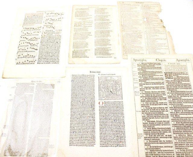 17TH/18TH CENTURY BIBLE & STORY MANUSCRIPTS