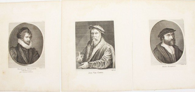 18TH CENTURY ENGRAVINGS -HOLBEIN HILLIARD & CLEEVE