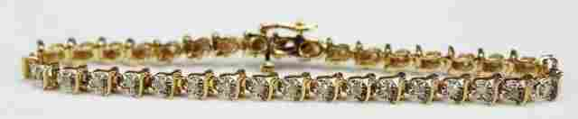 LADIES 10K GOLD DIAMOND TENNIS BRACELET