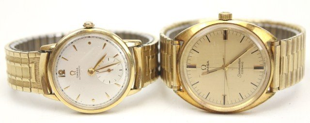 TWO MEN'S OMEGA WRISTWATCHES - SEAMASTER & OTHER