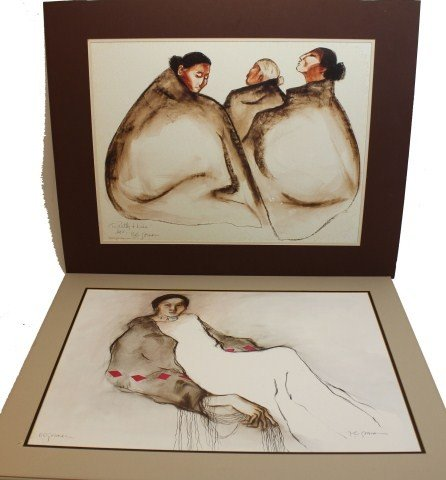 R. C. GORMAN - PAIR OF SIGNED LITHOGRAPHS