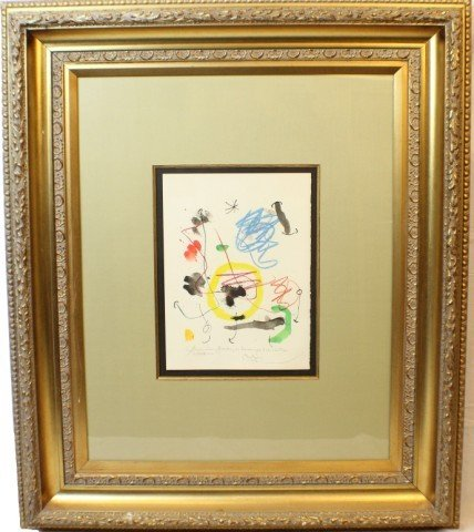 JOAN MIRO - FLOWERS FOR SOME FRIENDS HAND SIGNED