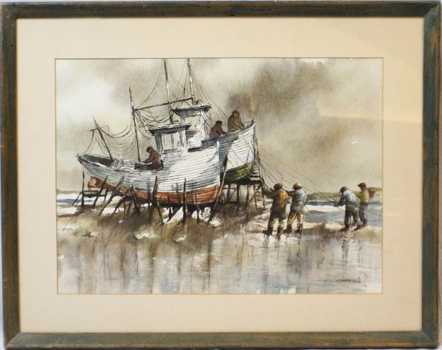 ROBERT FABE - SIGNED WATERCOLOR
